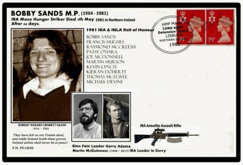 N.Ireland 1981 Bobby Sands IRA Hunger Striker Commemorative Card & Penny Coin