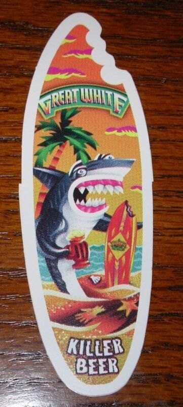 LOST COAST BREWERY Great White LOGO STICKER decal craft beer brewing