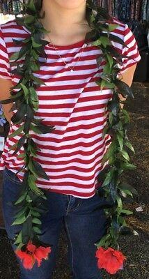 Hawaiian Silk Leis Maile Green - Graduation, Wedding, Luau, Hula  (Maile Lei)