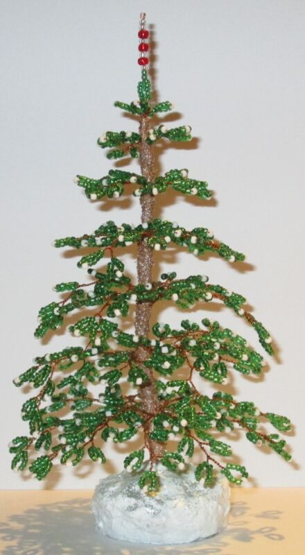 French Beaded Christmas Tree Handmade