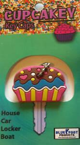 Cupcakeys- Key Covers - Cupcake Key Cap Cover - Chain