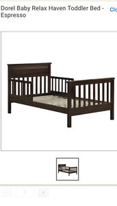 Toddler wooden bed for sale!