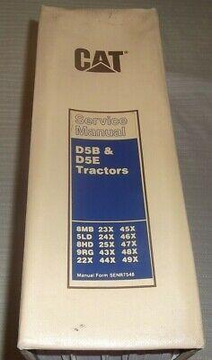 Cat Caterpillar D5b D5e Crawler Tractor Dozer Service Shop Repair Manual Book