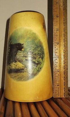 Aspen Pillar Candle Holder (Black Bear Pillar Candle Holder/Candlestick - Handmade In CO, USA - Aspen)
