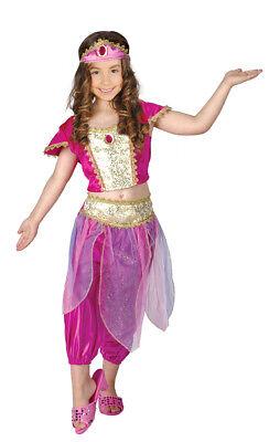 Mädchen Persisch Prinzessin Kostüm Aladdin Jasmin Outfit Alter 6-8 Neu