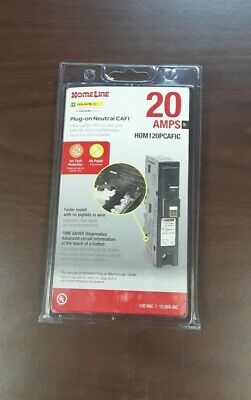 Square D Hom120pcafic 20a Arc Fault Afci Plug On Neutral Free Shipping. New Box.