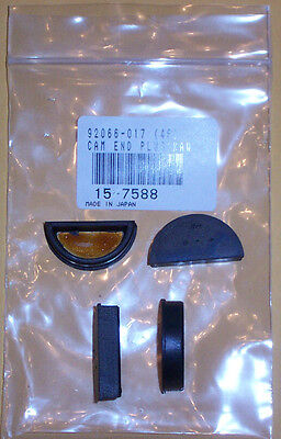 Kawasaki Z1 KZ900 KZ1000 Valve Cover Cam End Rubber Plugs Oil Seals (set of 4)