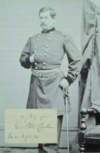 General George B. McClellan Civil War General Commander Autograph Card