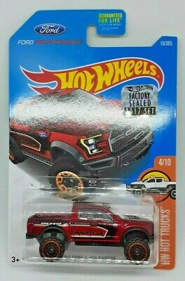 Hot Wheels '17 Ford F-150 Raptor HW Hot Trucks 2017 Factory Sealed Set