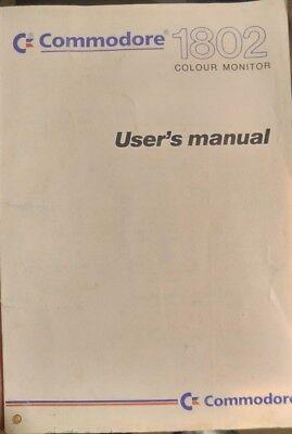 Commodore 1802 Colour Monitor Handbuch (C64) multilingual gebraucht kaufen  Bruchsal