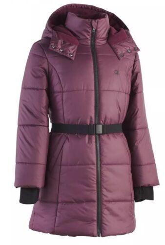Calvin Klein Big Girl Puffer Jacket Wine Size 5/6