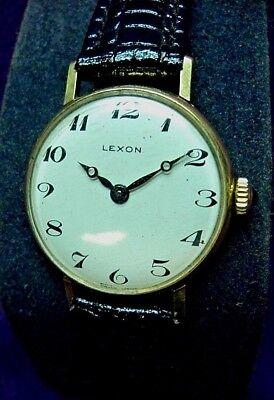 Serviced~1960s Lexon 17J Swiss~Tiffany Style Gold Plated Womens  Watch ](Sixties Women's Fashion)