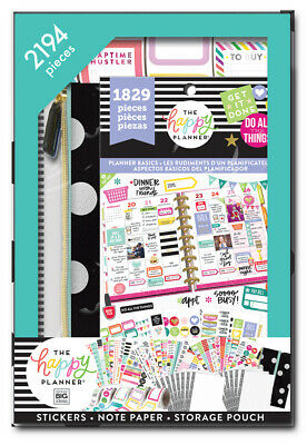 The Happy Planner 2194 Pcs Stickers Note Paper Storage Pouch Teen Girl Organizer