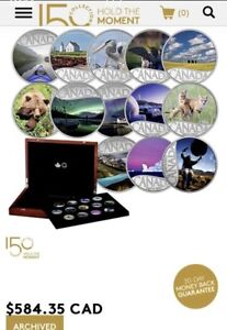 Royal Canadian Mint Pure Silver Coin set.