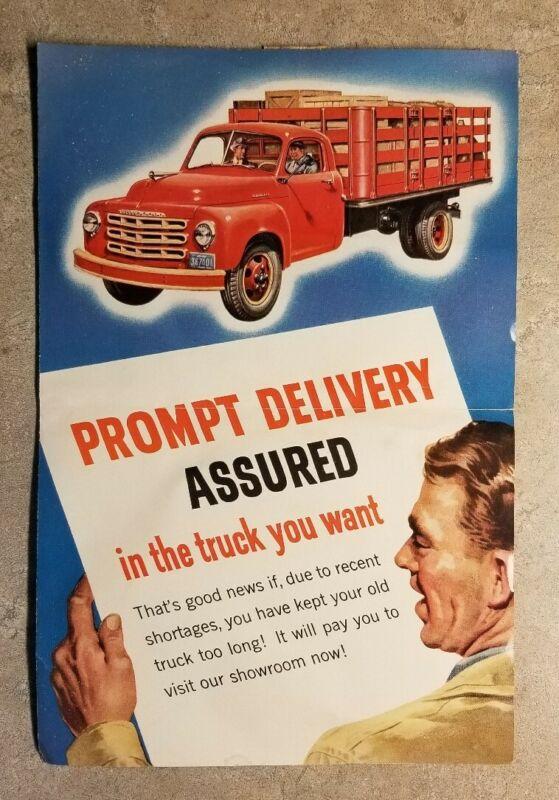 Original STUDEBAKER Truck Ad 1953 Folding Brochure Advertisement Salina KS