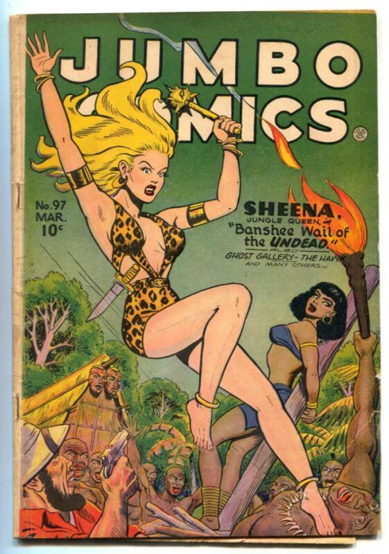 Jumbo Comics #97 1947- SHEENA- Matt Baker VG-