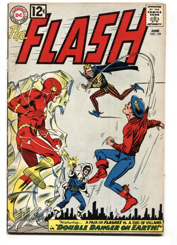THE FLASH  #129-1962-GOLDEN AGE FLASH COVER-G/VG