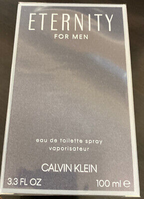 Eternity by Calvin Klein 3.4 oz EDT Cologne for Men New In Box Calvin Klein Eternity For Men