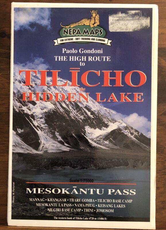 High Route To Tilicho Hidden Lake Travel Map Nepal Himalayas Mesokantu Pass