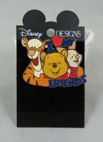 Disney Brooch Pin - I Love My Friends - Winnie the Pooh / Tigger / Piglet