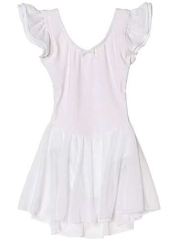 NWT Capezio Girls Flutter Sleeve Dress Ballet Dance Leotard