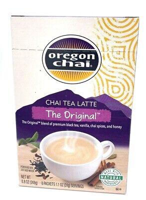 Lot of 3 (8 Ct) Boxes Oregon Chai Original Tea Latte Mix 24 packets Exp 4/2020 + Chai Latte Mix