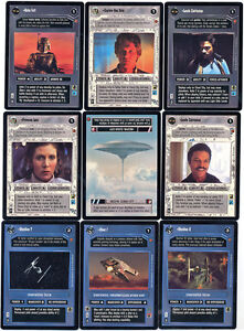 Star Wars CCG Cloud City Complete Card Set BB Boba Fett Lando Captain Han Solo +