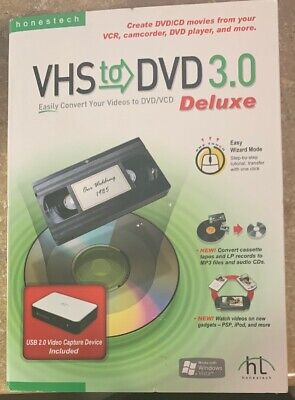 HonesTech VHS To DVD 3.0 Deluxe Video Converter VCD WMV MPEG Windows Vista or XP Vcd Mpeg Converter