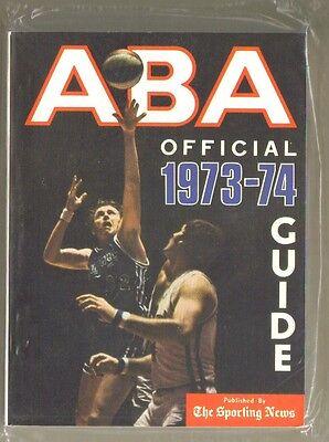 1973 74 Sporting News American Basketball Association Aba Guide   Near Mint