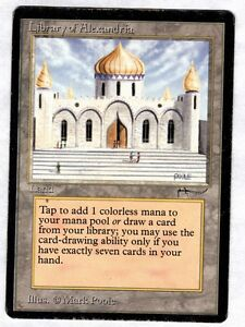 1 x Library of Alexandria ✰ Arabian Nights ✰ PLAYED, English MTG