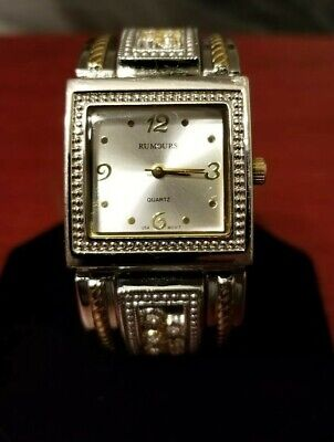 Rumours quartz watch square face bangle style band Swarovski crystals - Swarovski Crystal Bangle Style Watch