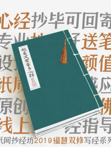 Chinese The Heart of Prajna Paramita Sutra calligraphy workbook US seller 心经 字帖