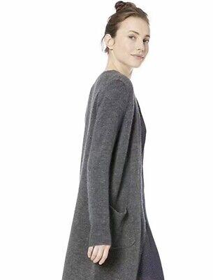 Wool Boyfriend Cardigan (J.CREW Heather Gray L/S Boyfriend Open Cardigan Sweater Wool Alpaca Soft)