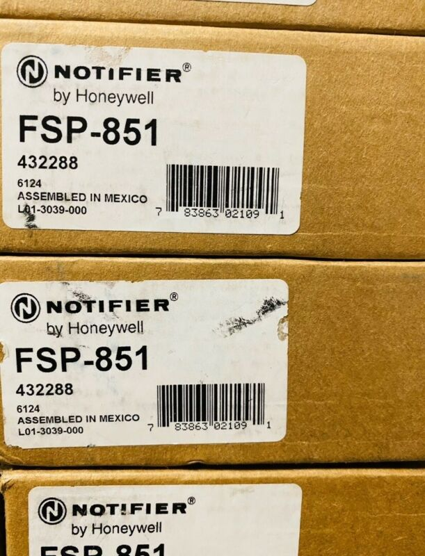 NOTIFIER FSP-851 INTELLIGENT PHOTOELECTRIC SMOKE DETECTOR