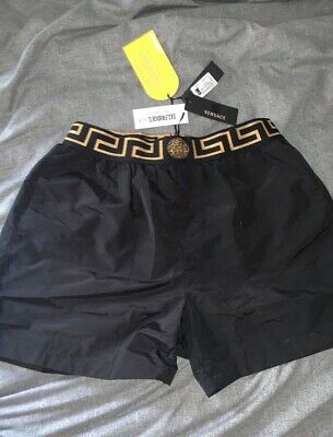 Mens Versace Swim Shorts black new with tags - Size Medium - £180