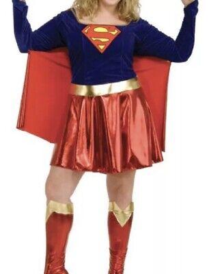 Supergirl Costume Adult Sexy Super Hero Super Girl Comic-Con Plus One Size - Comic Con Kostüm Sexy
