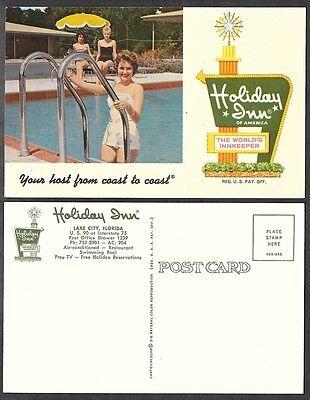 Old Hotel,Motel Postcard - Lake City, Florida - Holiday Inn