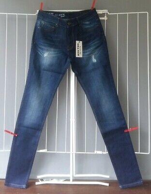 "Brand New Hoxton Denim Spray on Skinny Jeans 32"" Waist 34"" Leg"