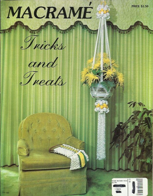 Macrame Tricks & Treats Learning Shortcuts Vintage Pattern Instruction Book NEW