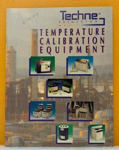 Techne Princeton 1995 Temperature Calibration Equipment Catalog.