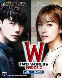 DVD KOREAN Drama W-Two Worlds Vol. 1 - 16 End Good Eng Sub All Reg_Free Shipping