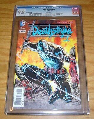 Teen Titans #23.2 CGC 9.8 new 52 - deathstroke #1 - 3-D lenticular variant - 2nd