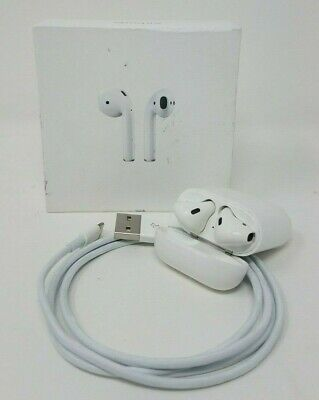 Apple MMEF2BE/A Airpods Wireless Headphones USED- SEE DESC- White