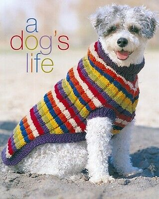 6 Dog Sweaters Blanket Knitting PATTERNS Petite to X-Large Aran Check