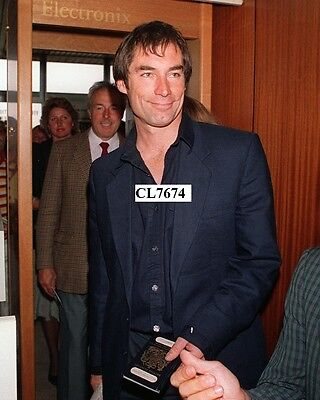 Timothy Dalton Arrives at Deauville Airport to Present 'The Living Daylights'