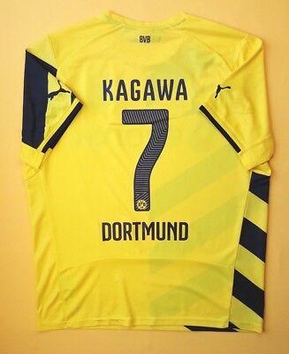 4.9 5 Kagawa Borussia Dortmund jersey XL 2014 2015 shirt Puma soccer ig93 997f211715bdc