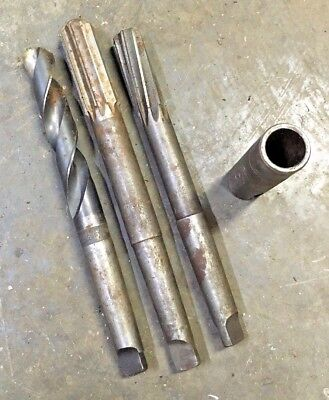 Morse Taper 3 Mt 6164 Drill Bit 1-18 1516 Reamer Lot W Socket Machinist To