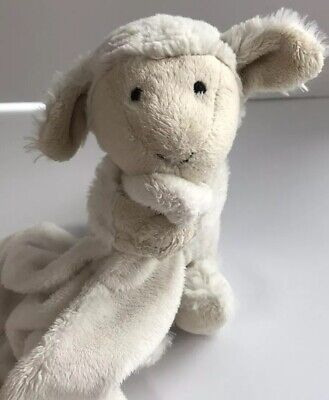 Jellycat Bashful Lamb Soother Soft Security Blanket Lovey Baby Toy Jelly Cat