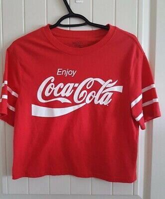 Coca Cola Womens Red Crop T Shirt ( Size M)