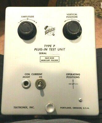 Rare Tektronix Type P Plug-in Test Unit